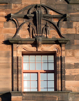Photo of Glasgow Herald buildings, Mitchell Street, window detail