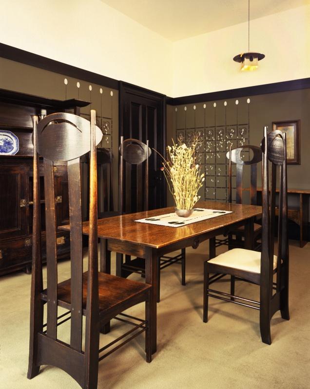 Colour Photograph Of Mackintosh House Dining Room SW Corner