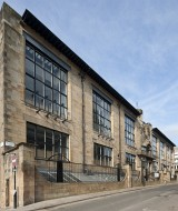 Colour photograph of N. front of Glasgow School of Art