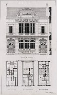 Reproduction of plans and elevation of a Post Office by John Keppie