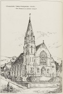 Reproduction of perspective of Craigmore United Presbyterian Church by John Hutchison, from 'British Architect', 20 September 1889
