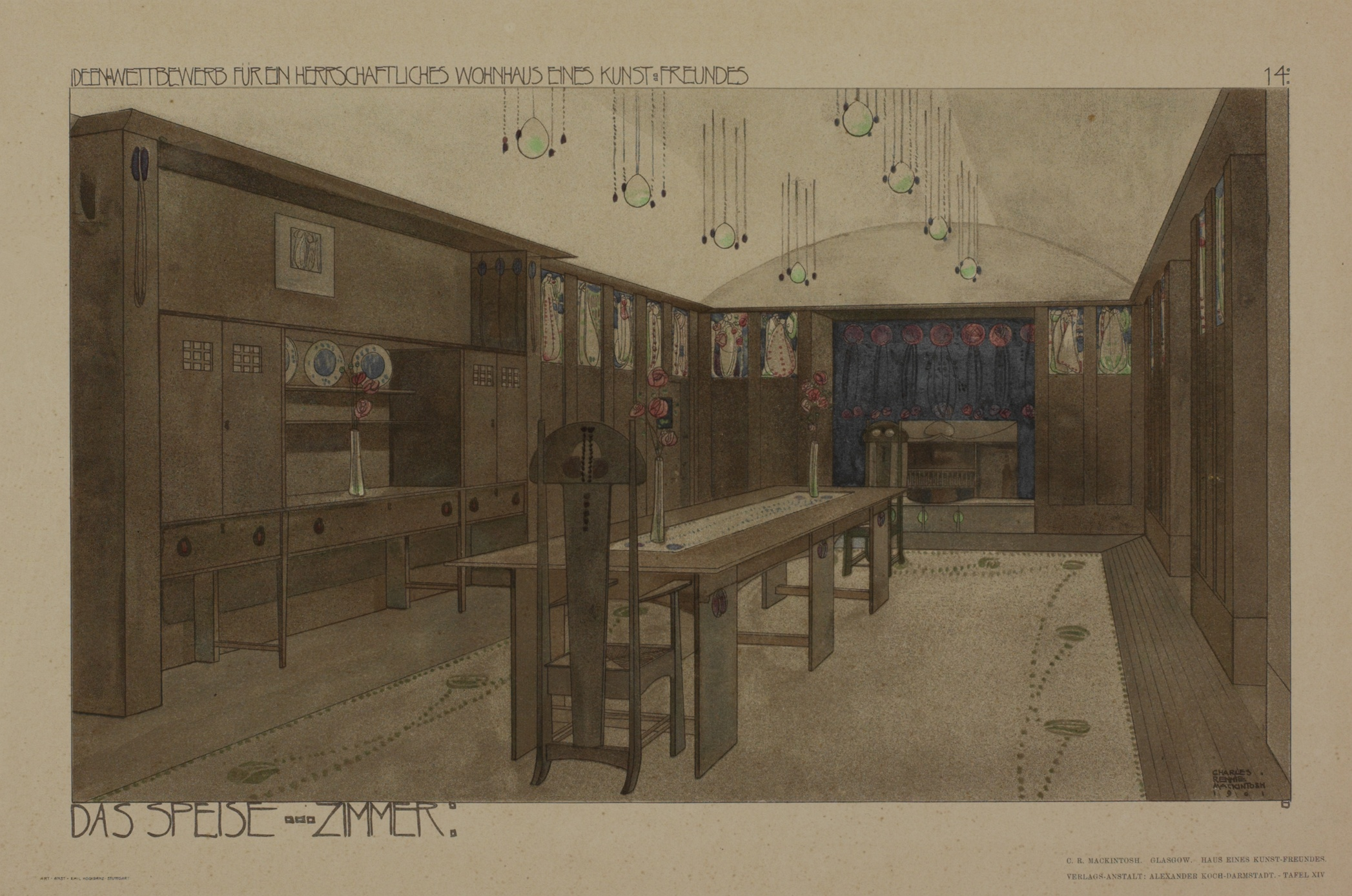 Competition Design For A House An Art Lover Description Perspective Of Dining Room Dimensions